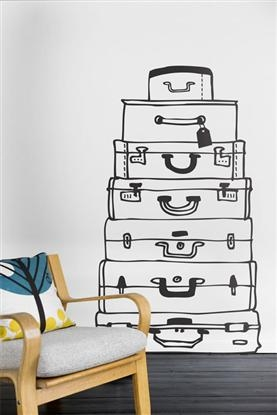 Suitcase - Wallsticker