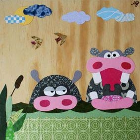 Hippo Wall Art