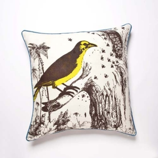 Birds and Bees Maize Cushion