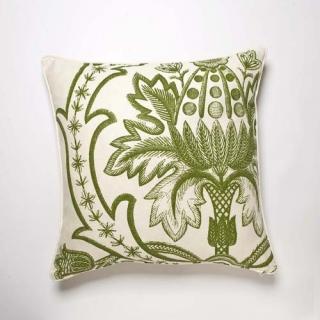 Broderie Cushion - Grass
