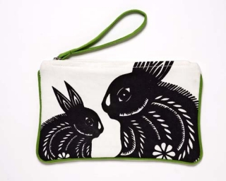 Bunnies Pouch - Yellow