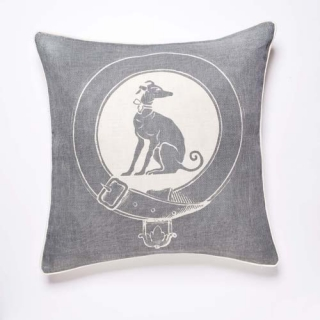 Greyhound Cushion - Dove