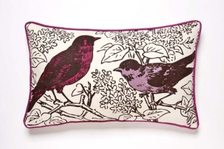 Perch Violet Cushion