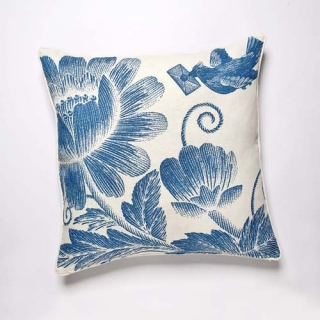Stich Cushion - Aqua