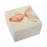 """Alabaster Lacquer Box - Goldfish (5""""x5""""x3"""") - Mandarin"""