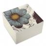 """Alabaster Lacquer Box - Botany (5""""x5""""x3"""") - Aqua"""