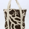 Large Tote Bag Coral Brown
