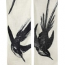 Cotton Gauze Scarf - Swoop (12&quot;x72&quot;) - Black
