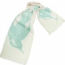 "Cotton Gauze Scarf - Swoop (12""x72"") - Aqua"