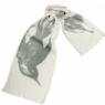 "Cotton Gauze Scarf - Swoop (12""x72"") - Grey"