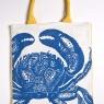 Crab Tote - Blue