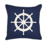 "Ship Wheel (20""x20"") - Denim"
