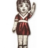 Antique Toy Pillow - Annie Doll - Berry