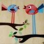Coloured Birds Wall Art